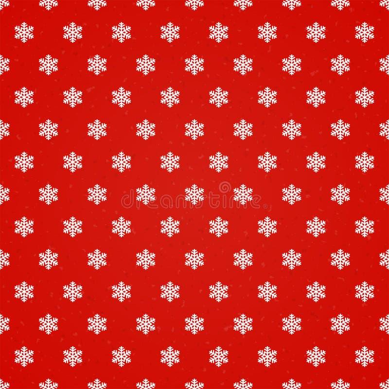 Fond sans couture rouge avec des flocons de neige illustration libre de droits