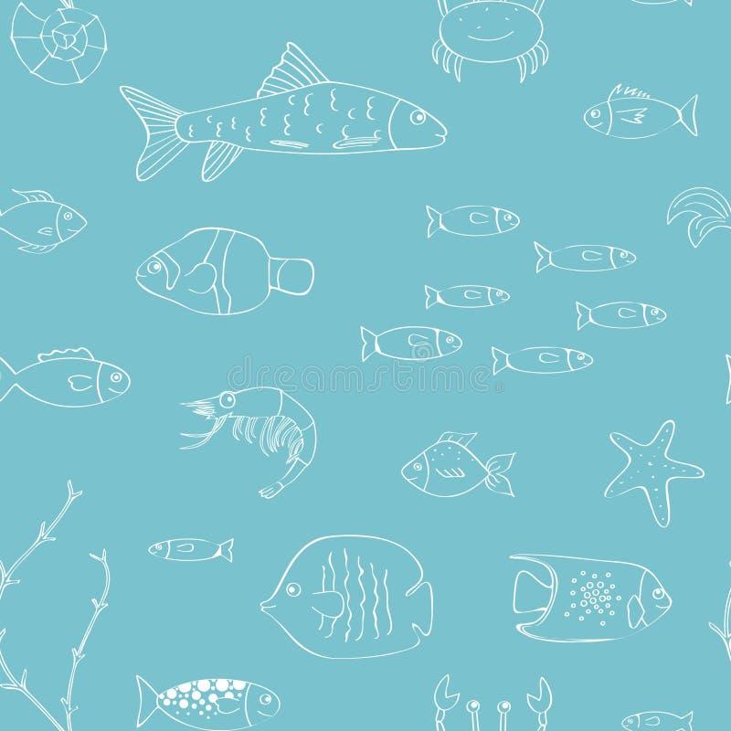 Fond sans couture sous-marin photographie stock libre de droits