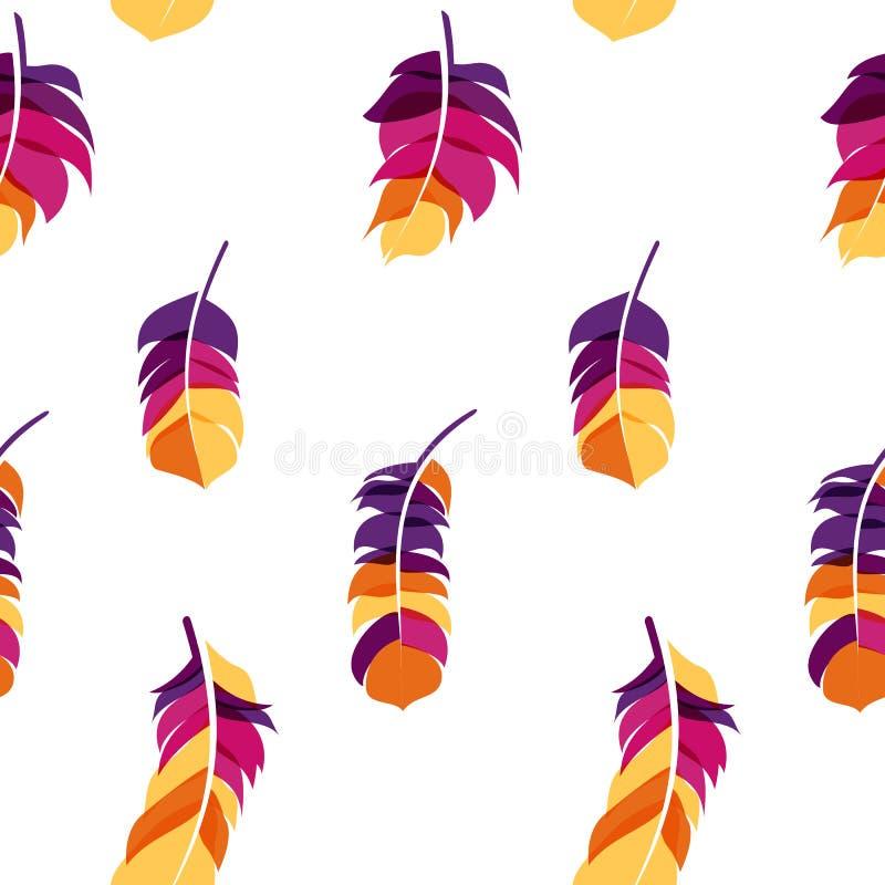 Download Fond Sans Couture Tiré Par La Main De Modèle De Plume D'oiseau Illustration de Vecteur - Illustration du positionnement, vecteur: 77153256