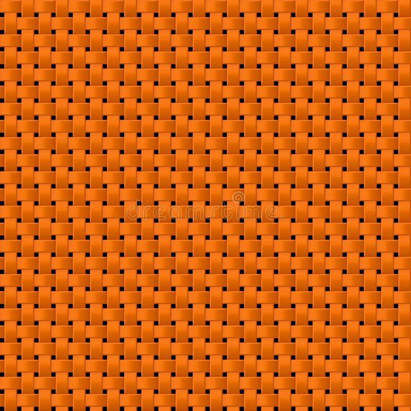 Fond sans couture tissé orange de texture de modèle de tissu de tissu illustration de vecteur