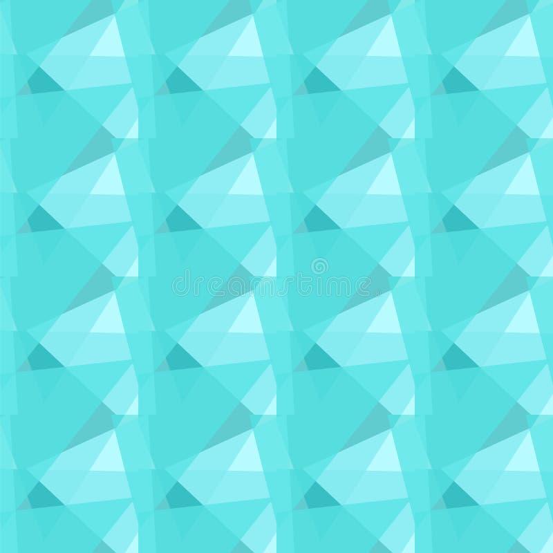 Fond sans couture triangulaire bleu polygonal abstrait de texture de vecteur illustration libre de droits