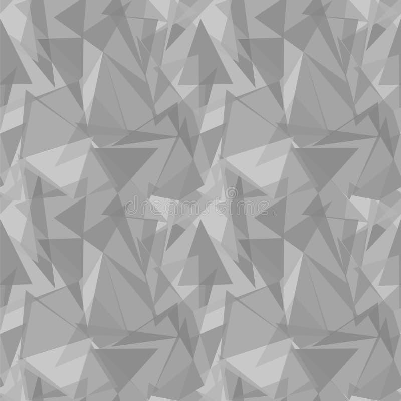 Fond sans couture triangulaire gris abstrait de modèle de vecteur illustration de vecteur