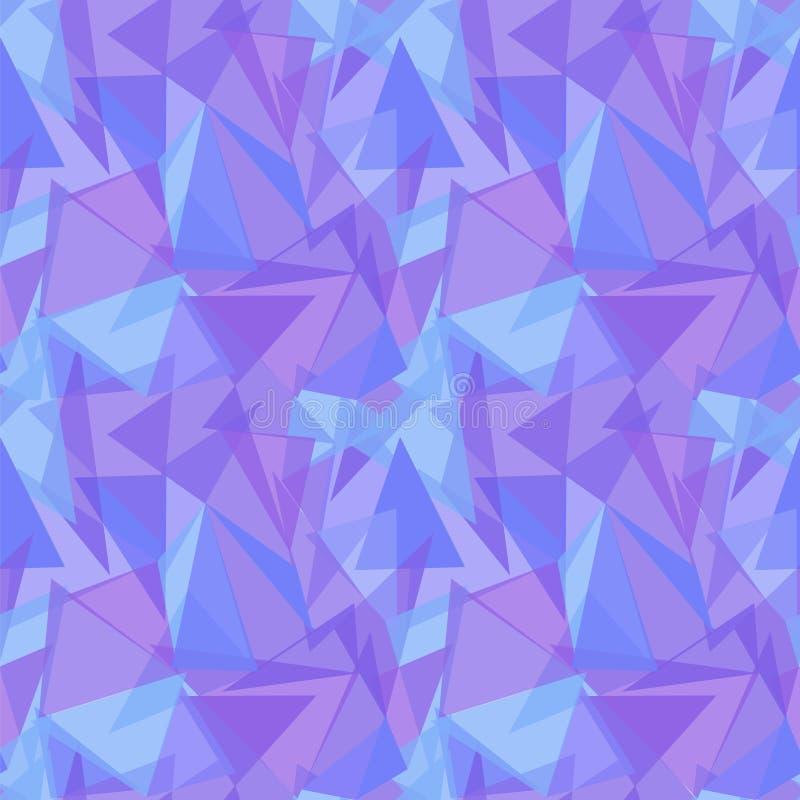 Fond sans couture triangulaire pourpre abstrait de modèle de vecteur illustration stock