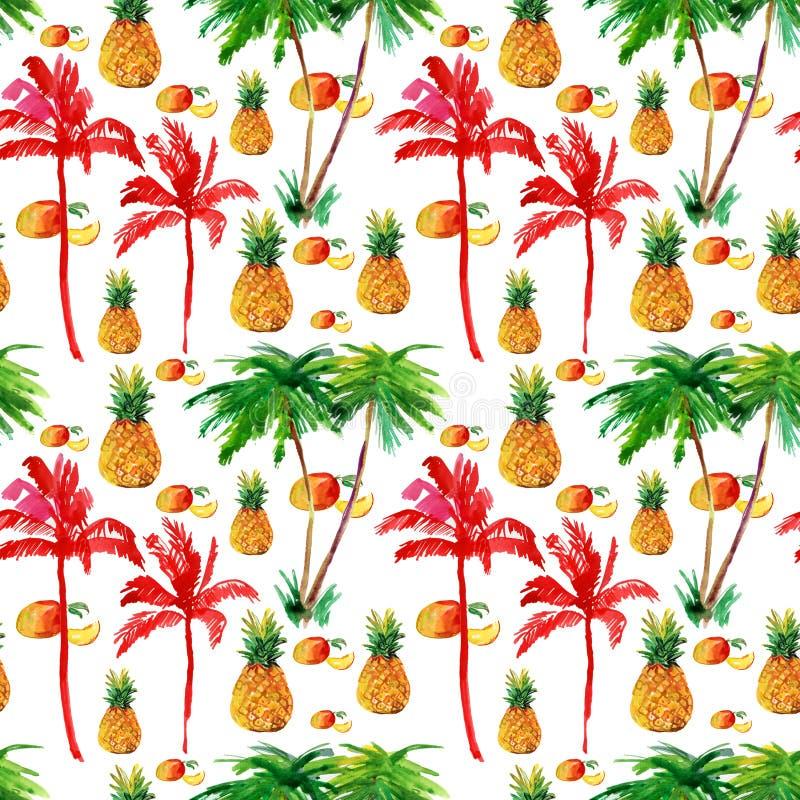 Fond sans couture tropical. illustration de vecteur