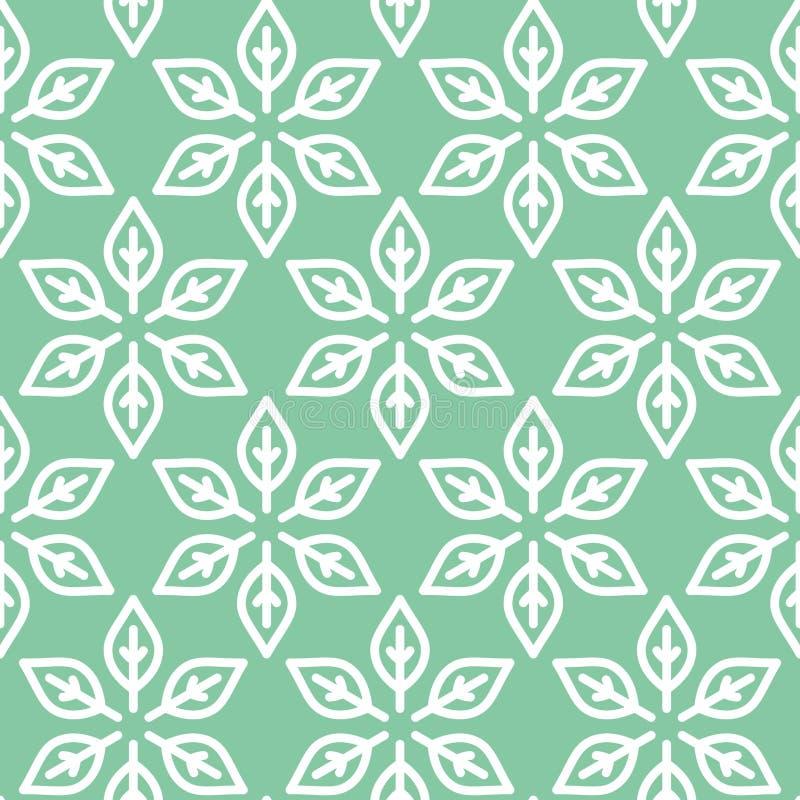 Fond sans couture vert formé rétro par feuille illustration de vecteur