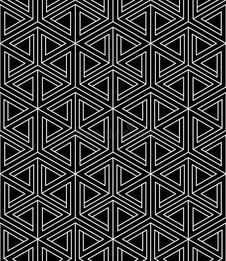 Fond sans fin de vecteur abstrait contemporain, trois-dimension illustration libre de droits