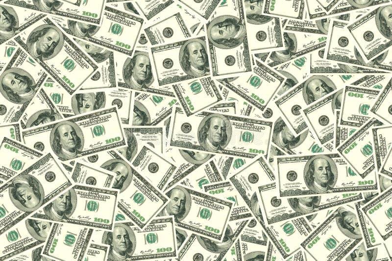 Fond sans joint abstrait de configuration Fond des dollars images libres de droits