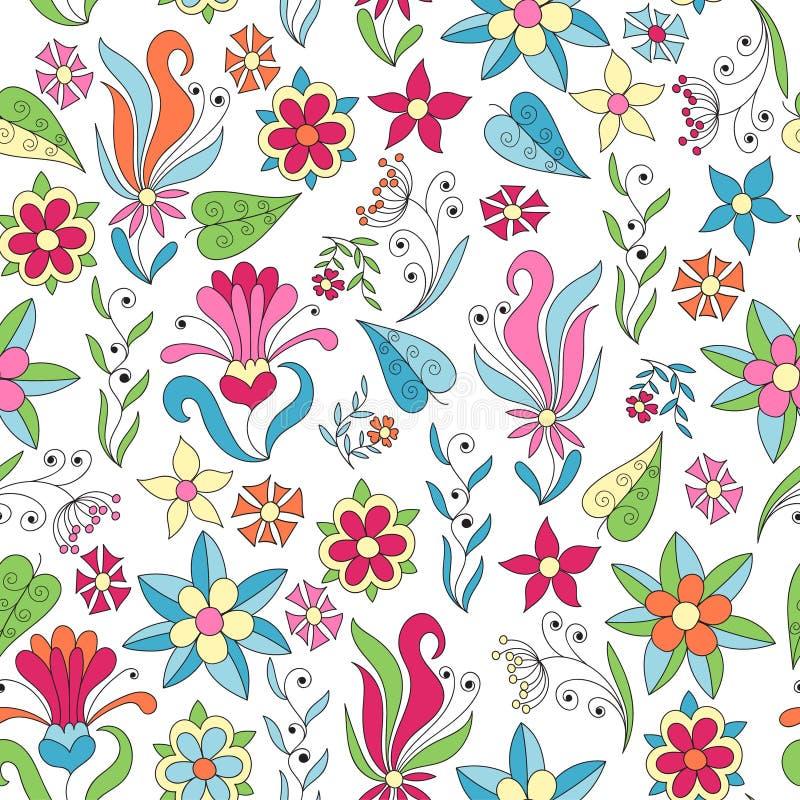 Download Fond Sans Joint Avec Les Fleurs Et Les Lames Abstraites Illustration de Vecteur - Illustration du lames, couleur: 76078035