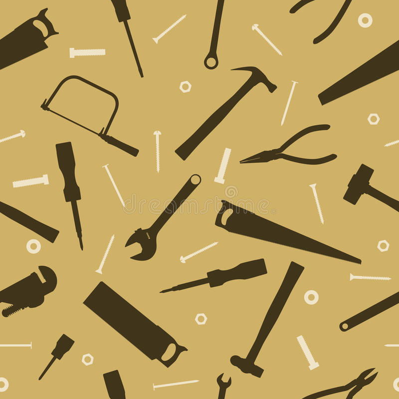 Fond sans joint d'outil illustration stock
