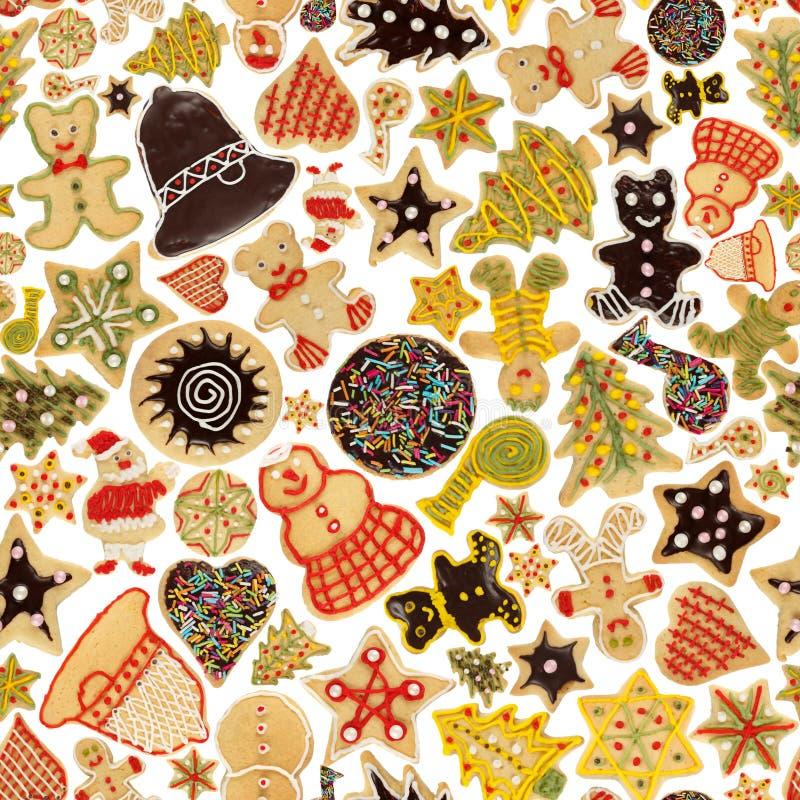 Fond sans joint de biscuit de Noël images libres de droits