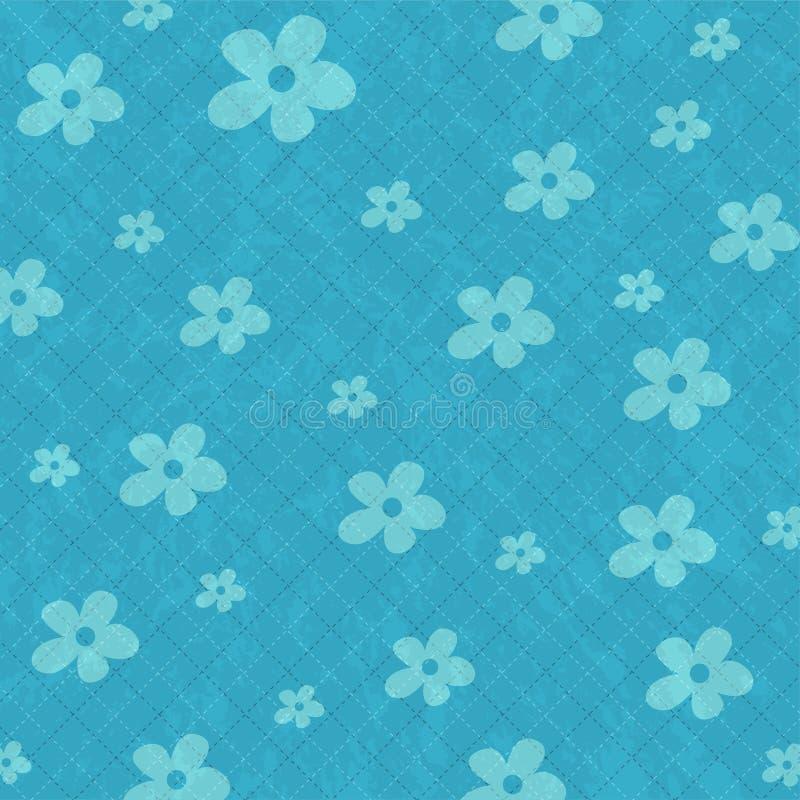 Fond sans joint de configuration avec des fleurs illustration de vecteur
