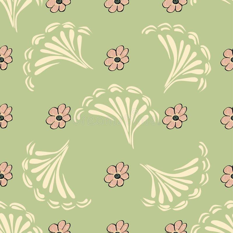 Fond sans joint de configuration de fleur abstraite Texture Flor de vecteur illustration de vecteur