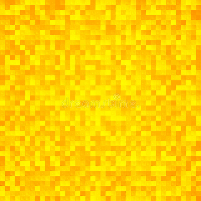 Fond sans joint de mosaïque jaune abstraite de pixel illustration stock