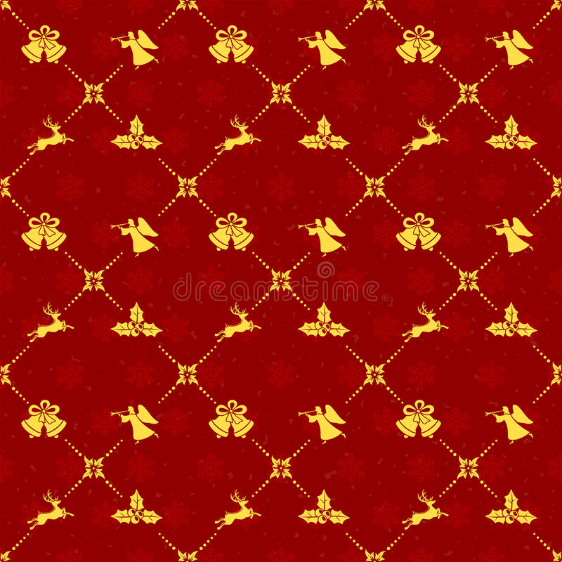 Fond sans joint de Noël rouge illustration stock