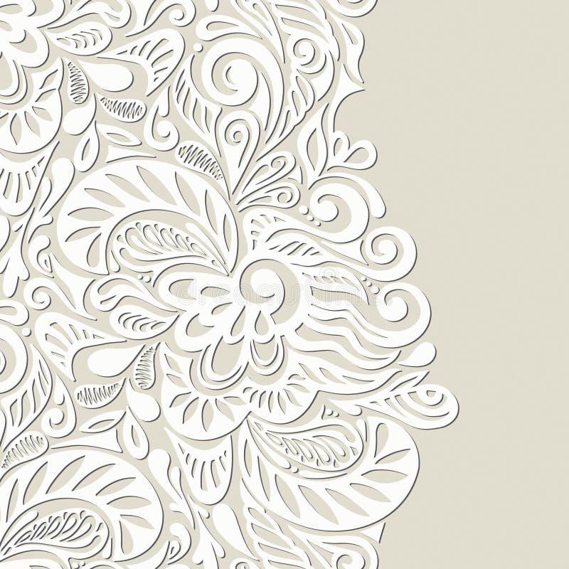 Fond sans joint de papier peint de cru illustration de vecteur