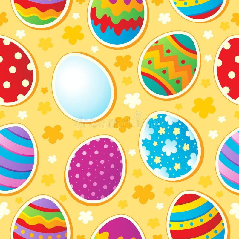 Fond sans joint de sujet de Pâques illustration stock