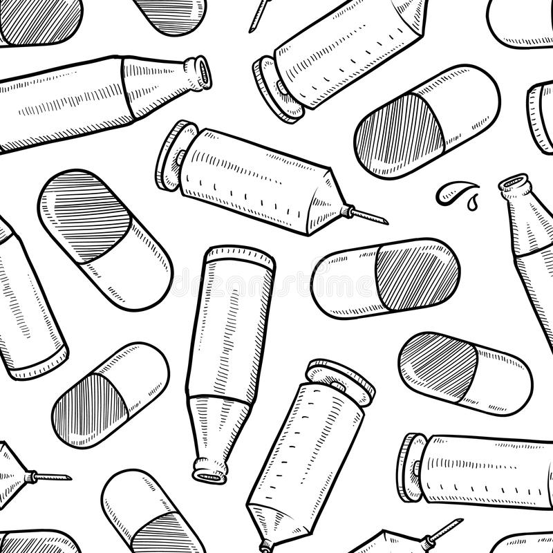 Fond sans joint de vecteur d'abus de médicaments illustration stock