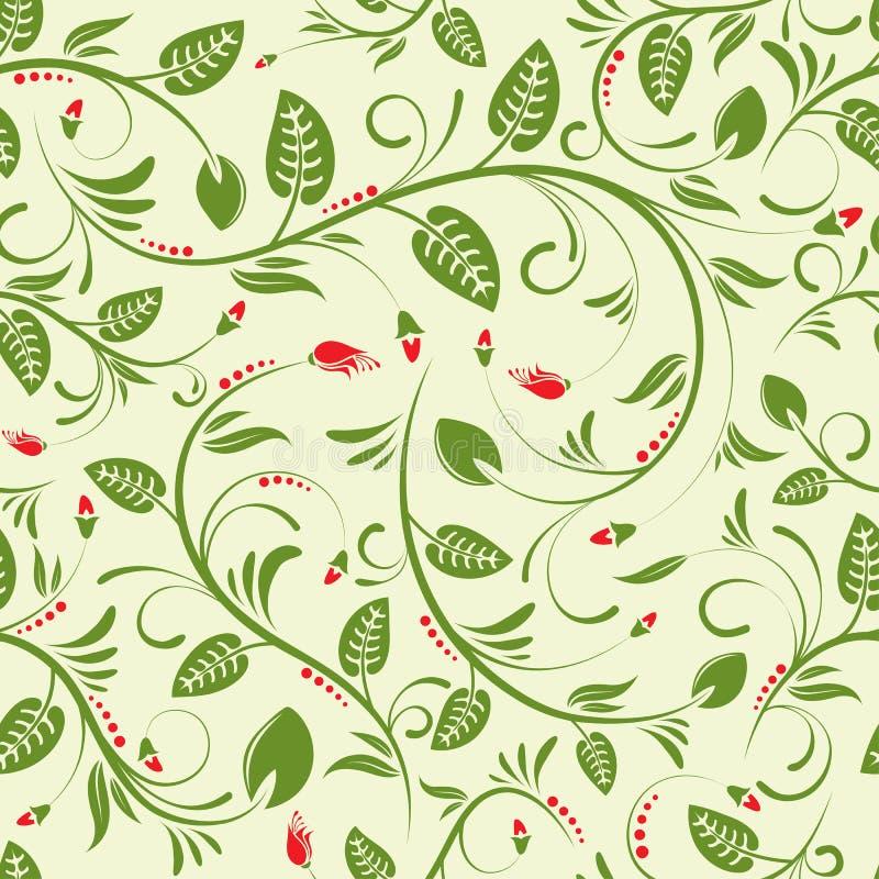 Fond sans joint floral illustration libre de droits