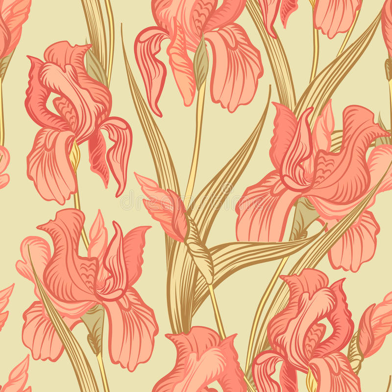 Fond sans joint floral Configuration de fleur illustration stock