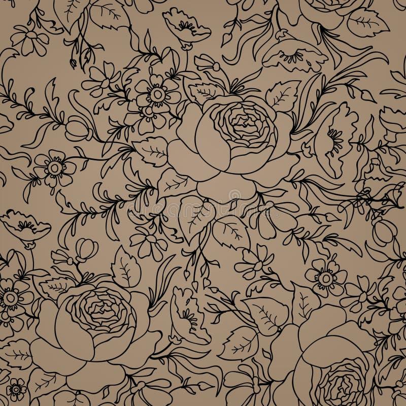 Fond sans joint floral Configuration de fleur Tex sans couture floral illustration de vecteur