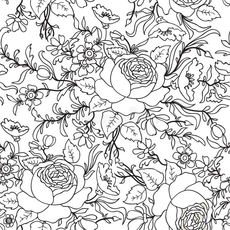 Fond sans joint floral Configuration de fleur Tex sans couture floral illustration libre de droits