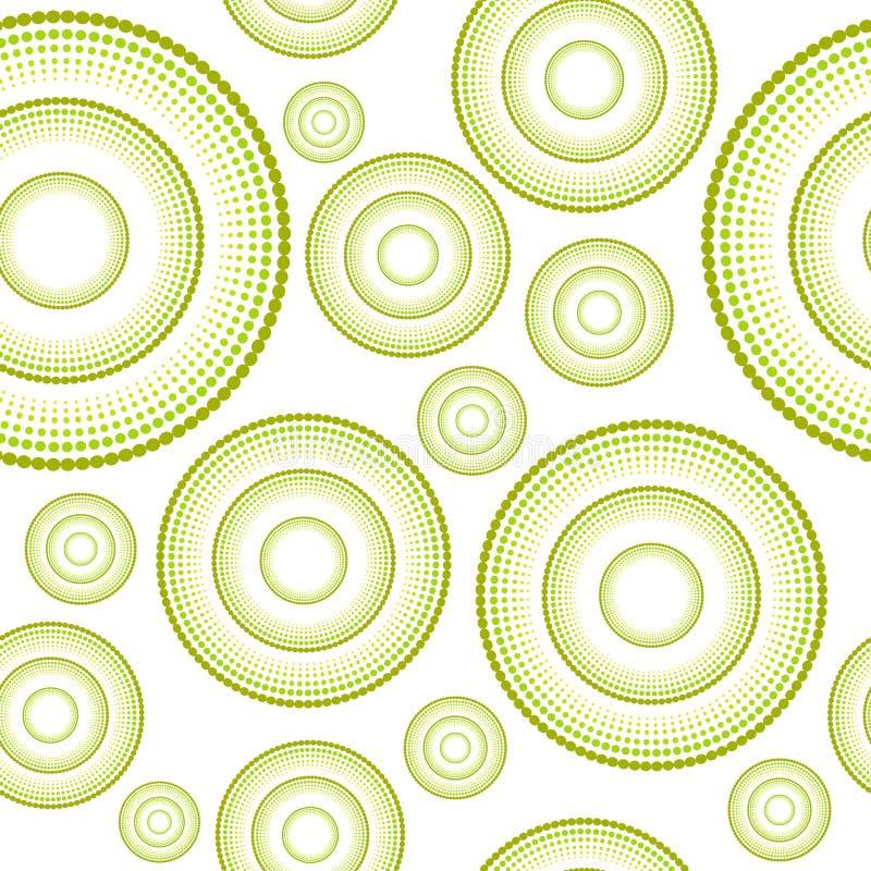 Fond sans joint floral de configuration dans des sons verts illustration libre de droits