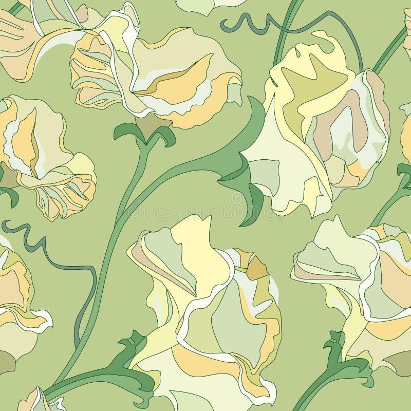 Fond sans joint floral des fleurs illustration libre de droits