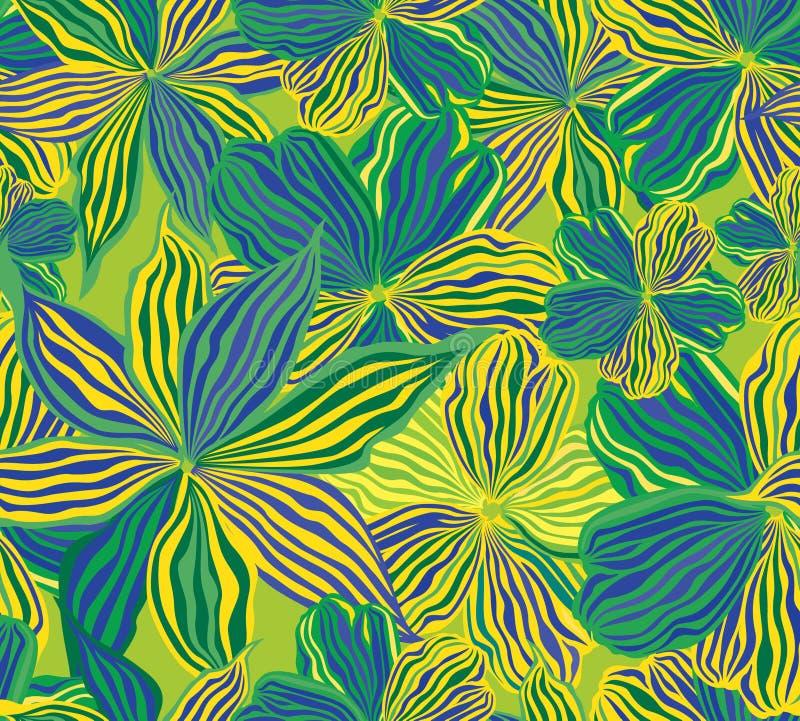 Fond sans joint floral, fleurs jaunes. illustration libre de droits