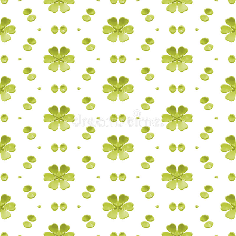Fond sans joint floral simple vert illustration stock