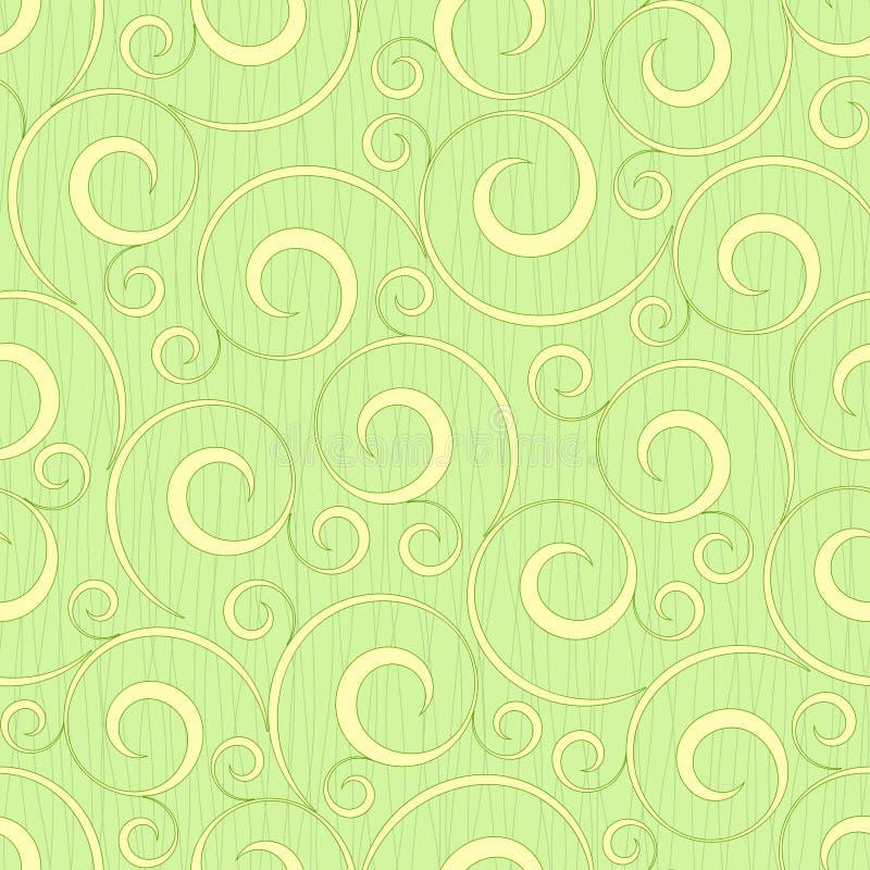 Fond sans joint floral vert clair abstrait illustration libre de droits