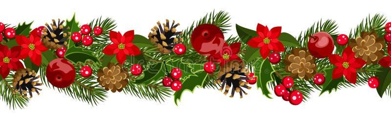 Fond sans joint horizontal de Noël illustration libre de droits