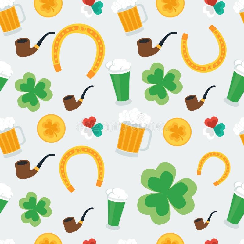 Fond sans joint pour le jour de St Patrick illustration libre de droits