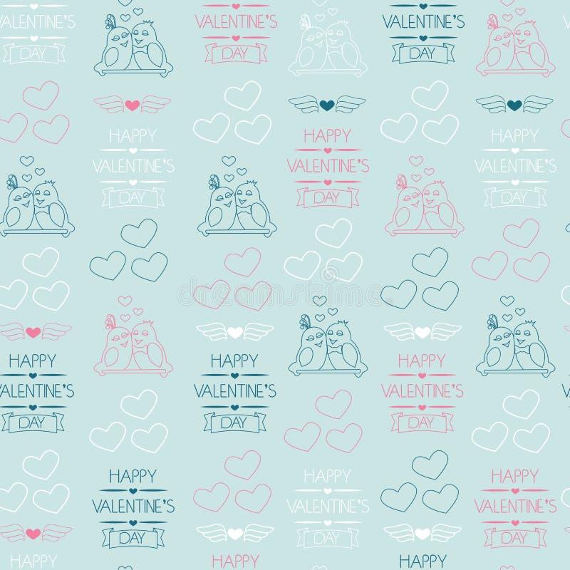 Fond sans joint pour le jour de valentine Papier d'emballage illustration stock