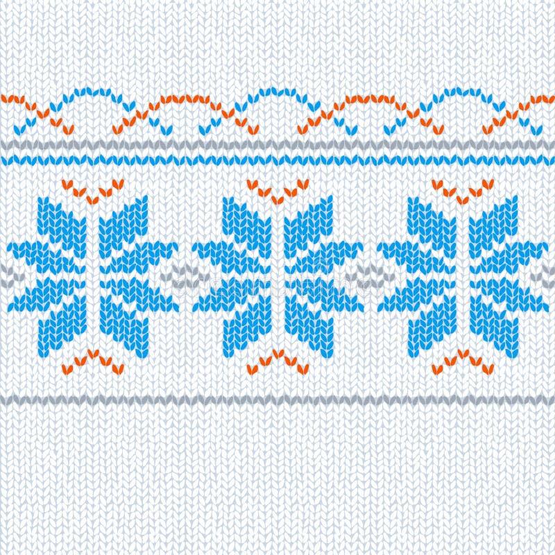 Fond sans joint tricoté avec des étoiles illustration libre de droits