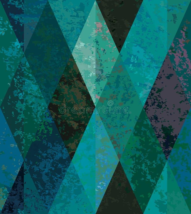 Fond sans joint vert. mosaïque en forme de diamant illustration stock