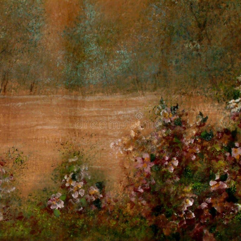 Fond scénique peint à la main illustration de vecteur
