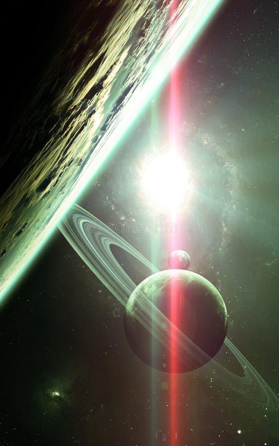 Fond scientifique abstrait - planètes en espace, nébuleuse et étoiles Éléments de cette image meublés par la NASA de la NASA gouv photo stock