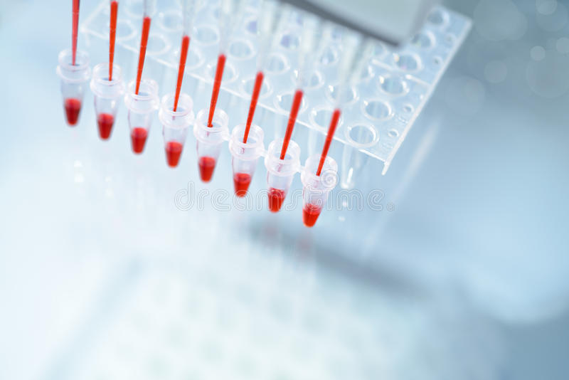Fond scientifique sur le sujet de l'analyse d'ADN images libres de droits