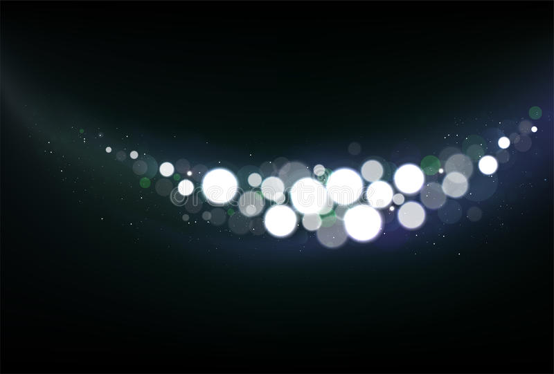 Fond scintillé de Noël avec des lumières de scintillement illustration stock
