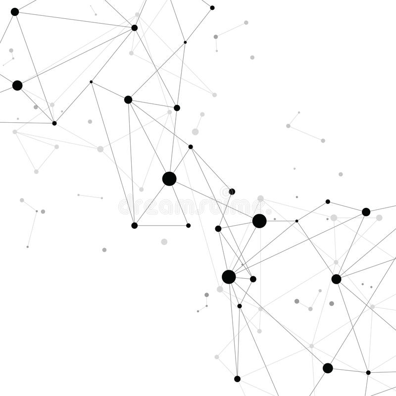 Fond se reliant de polygone de point de réseau : Concept de réseau, affaires, se reliant, molécule, données, produit chimique illustration de vecteur