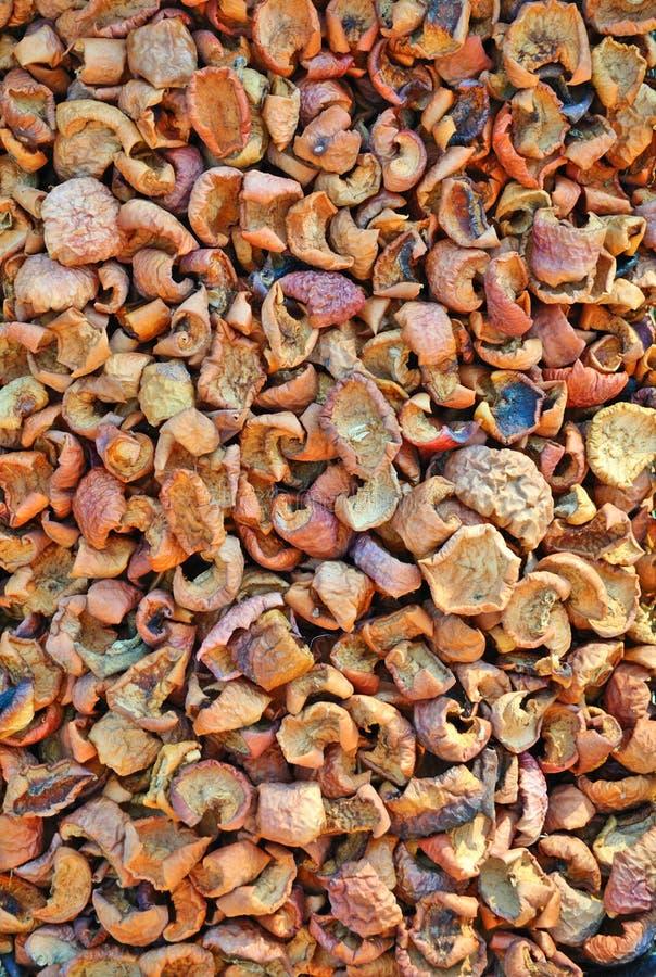 Fond sec de pommes photo libre de droits
