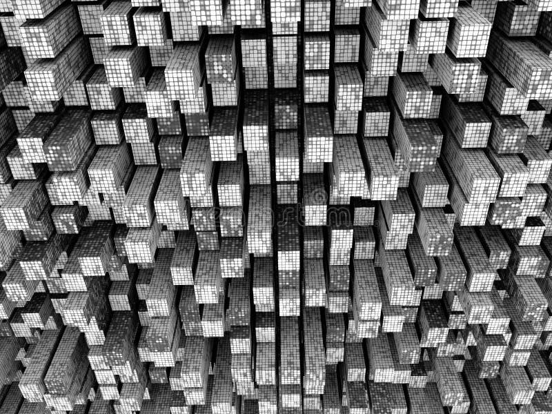 Fond segmenté par mosaïque grise illustration de vecteur