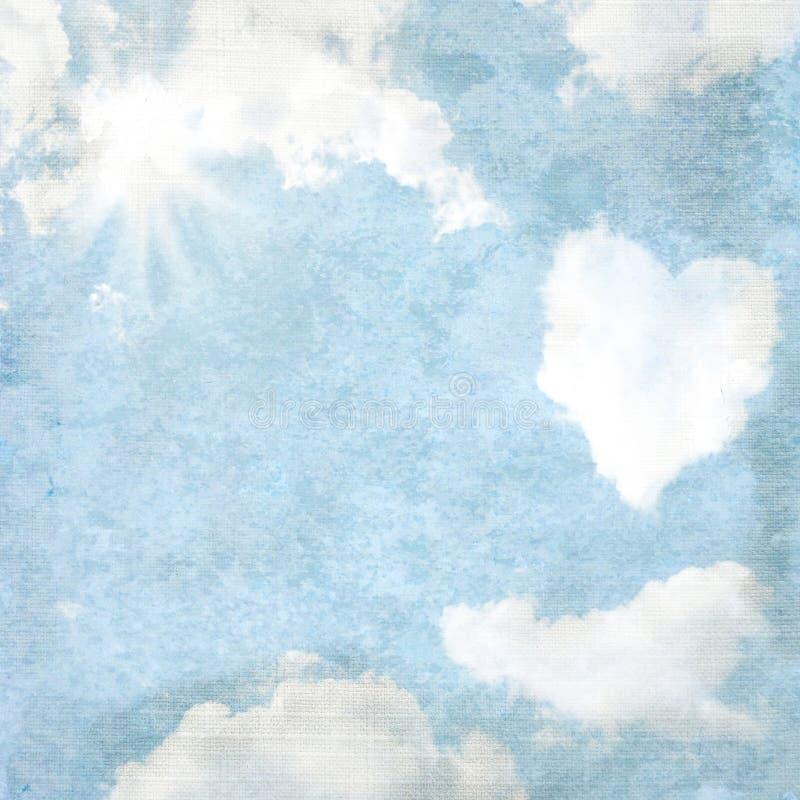 Fond sensible de cru - en forme de coeur illustration libre de droits