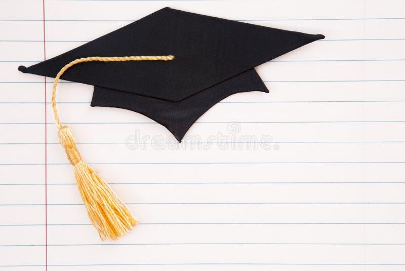 Fond simple d'obtention du diplôme photographie stock