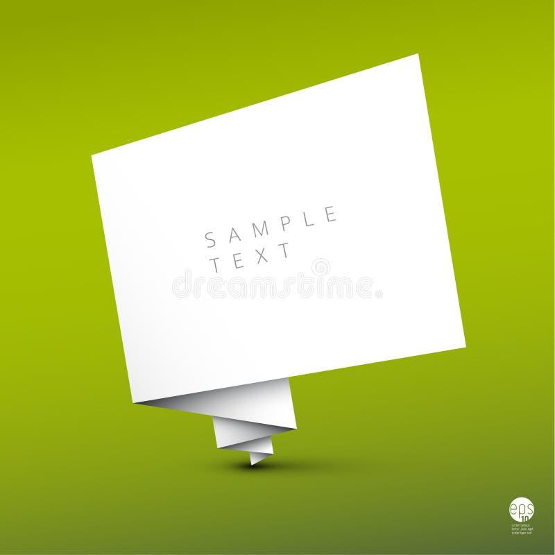 Fond simple de vecteur avec le livre blanc plié illustration libre de droits