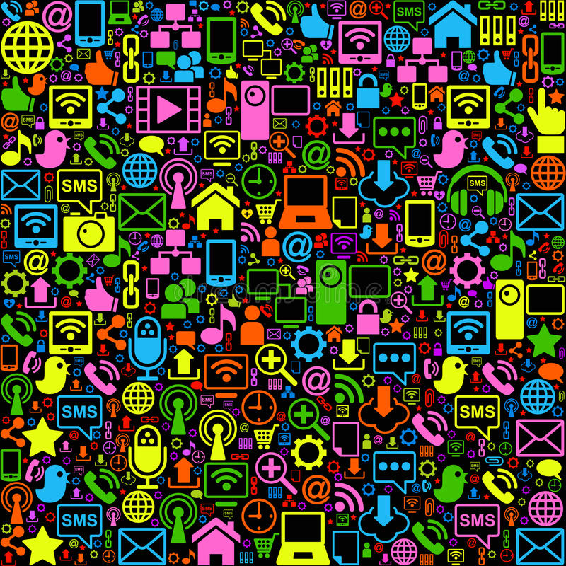 fond social de réseau coloré illustration de vecteur