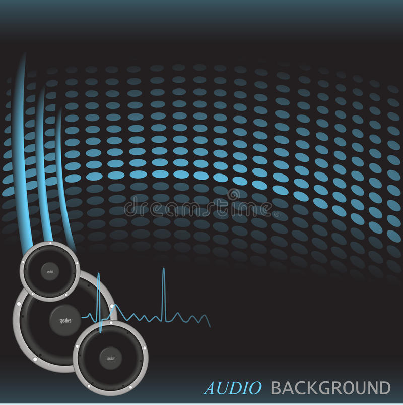 Fond sonore illustration stock
