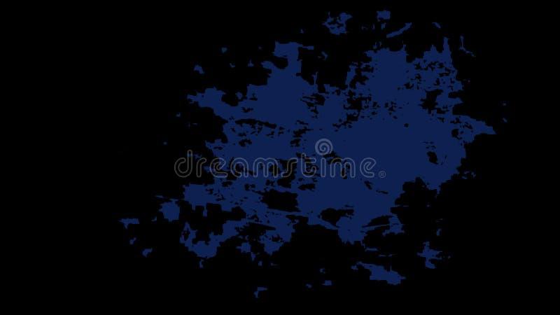 Fond souillé noir avec une grande tache bleue au centre photographie stock libre de droits