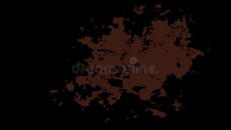 Fond souillé noir avec une grande tache rouge au centre image stock
