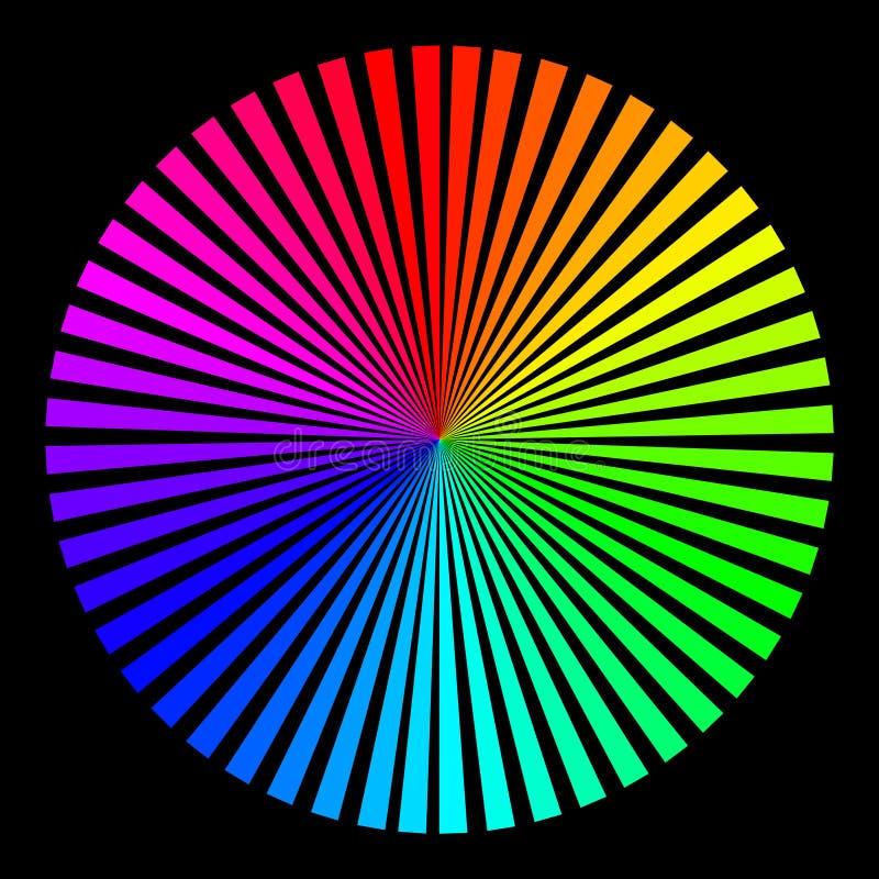 Fond sous forme de boule colorée illustration libre de droits
